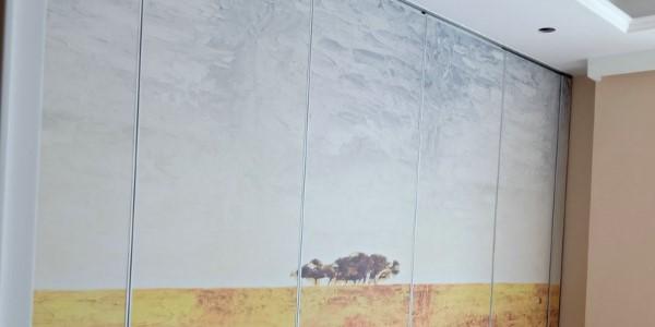 移动折叠屏风