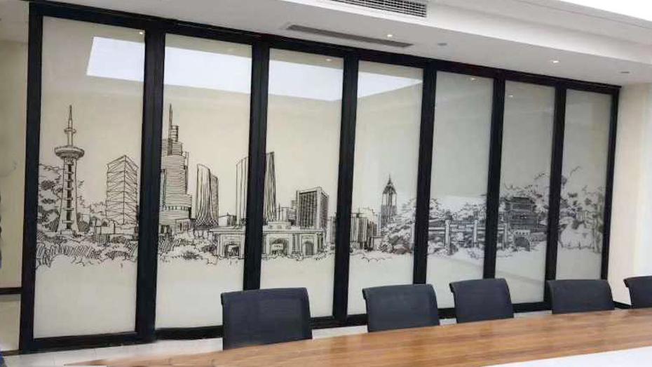 雾化玻璃系列屏风玻璃隔断