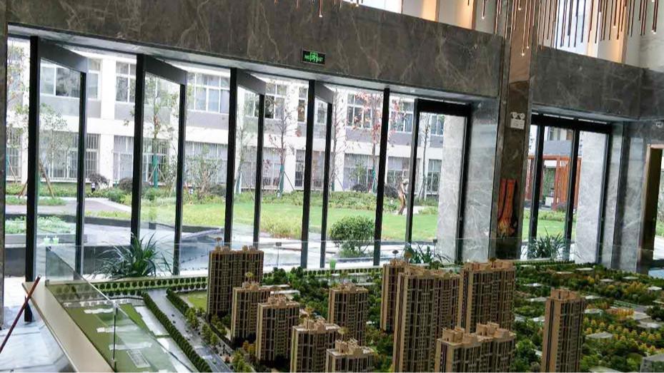 钢化玻璃外包不锈钢系列活动隔断墙