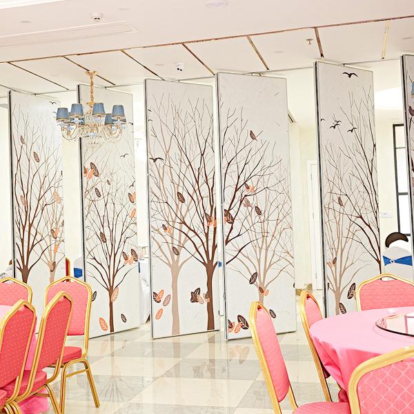 福皇活动隔断让酒店空间的风格更具艺术感!